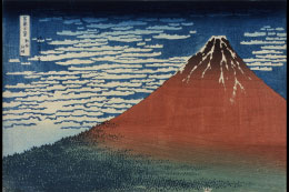 "Katsushika Hokusai ""A Mild Breeze of a Fine Day, from the series Thirty-six views of Mount Fuji "" Collection: the Sumida Hokusai Museum"